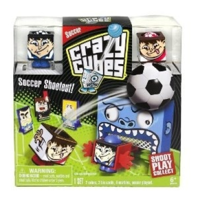 Soccer Playset With Eyeball Scoreboard - Crazy Cubes Duel Duos Soccer Shootout Set (Styles Vary)