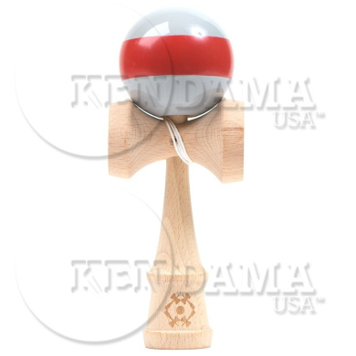 Tribute Kendama - Grey with Red Stripe