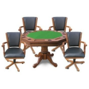 Hathaway Kingston 3-in-1 Poker Table with 4 Chairs