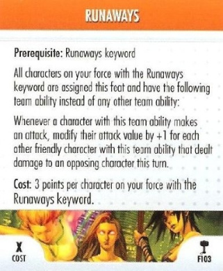 HeroClix: Runaways Feat Card # F103 (Uncommon) - Hammer of Thor