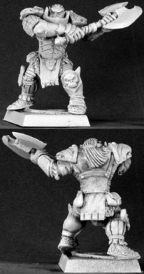 Varaug Black Orc Warlord Warlord Minature Figures by Reaper Miniatures