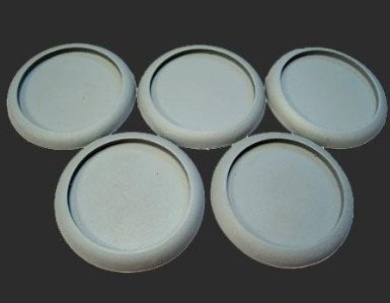 Secret Weapon - Scenic Bases: Round Lip 40mm Hollow Blanks (5)