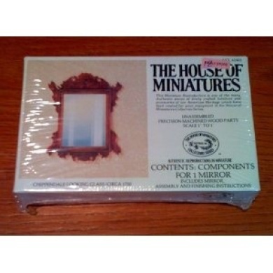 The House of Miniatures Chippendale Looking Glass/Circa 1750