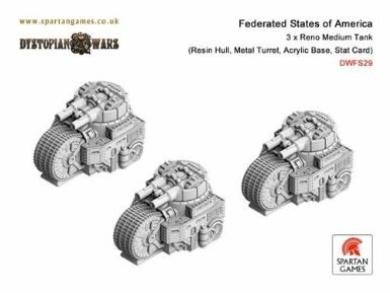 Reno Class Medium Tank (3) Miniature