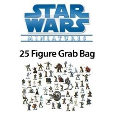 25 Star Wars Minature Figure Minis Grab Bag SW