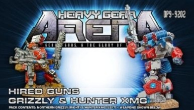 Heavy Gear Arena: Hired Guns Grizzly & Hunter XMG Pack