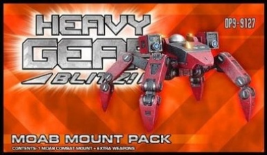 Heavy Gear Blitz: Caprice - Moab Combat Mount Pack