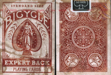 Bicycle Distressed Expert Back Playing Cards Corrected Version