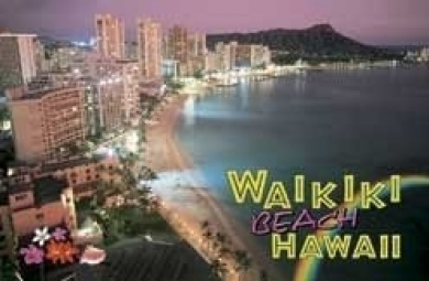 Hawaii Playing Cards Waikiki Aerial