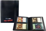 Ultra Pro 2 Pocket Pro Binder Black - 20 Pages & 80 Cards