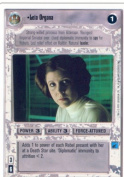 Star Wars CCG Premiere Unlimited WB Rare Leia Organa