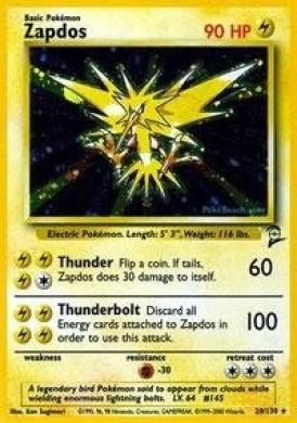 Pokemon - Zapdos (20) - Base Set 2 - Holofoil