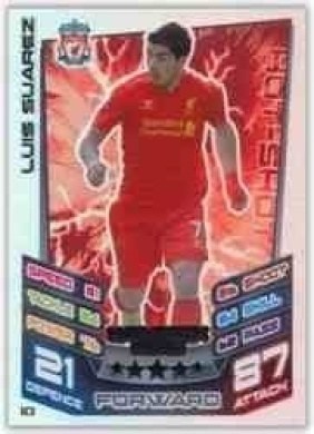 Match Attax Extra 2012/2013 H3 Luis Suarez Liverpool 12/13 Hat Trick Hero