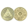 53 Year Bronze AA Birthday - Anniversary Recovery Medallion / Coin / Chip