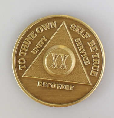20 Year Bronze AA Birthday - Anniversary Recovery Medallion / Coin / Chip