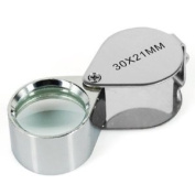 Jewellers Loupe 30 X 21mm Glass Magnifier Eye Lens