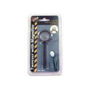 Tweezers With Magnifier - Case of 96