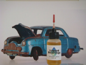 Liquid Bearings, the superior 100%-synthetic oil for die-cast cars and all hobby, sports equipment, tools, never gums up, frees rusty and sticky toys!!
