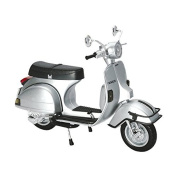 New Ray Vespa 1978 P200E Scooter Replica Motorcycle Toy - Silver / 1:12 Scale
