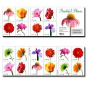 Beautiful Blooms 2007 Pane of 20 x 41 cend US U.S. Stamps MINT