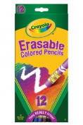 ERASABLE coloured PENCILS 12 CT