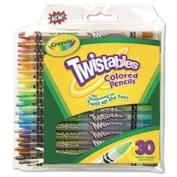 Twistables Coloured Pencils, Nontoxic, 30 Assorted Colours/Pack