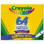 NEW - Pip-Squeaks Skinnies Washable Markers, 64 Colours, 64/Box - 588764