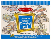 Jumbo Colouring Pad 28cm x 36cm 50 Pages-Vehicles