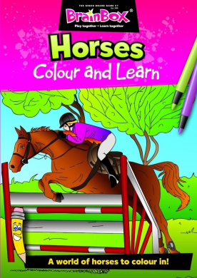 Colour and Learn Horses Colouring Book