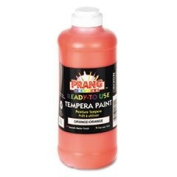 Ready-to-Use Tempera Paint, Orange, 470ml