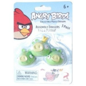 Eraseez Collectible Puzzle Eraser 3Pack Angry Birds 3 Pigs