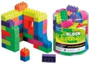 Interlocking Block Eraser, Rectangles, 50 count tub