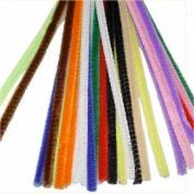 100 Multi-Coloured Chenille Stems