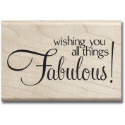 Mounted Rubber Stamp 6.4cm x 6.4cm -Fabulous