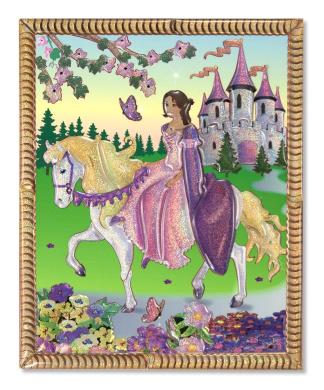 Melissa & Doug Petite Peel and Press Sticker by Number-Princess Castle