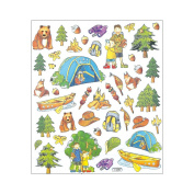 Multi-Coloured Stickers-Camping Trip