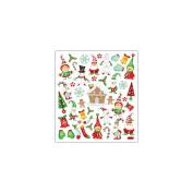 Multi-Coloured Stickers-Glitter Holiday Magic