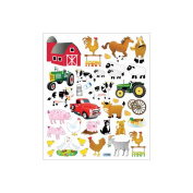 Multi-Coloured Stickers-The Farm 129905 Tattoo King