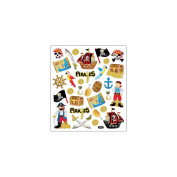 Multi-Coloured Stickers-Pirates Glitter 206520 Notions - In Network