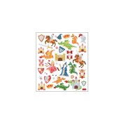 Multi-Coloured Stickers-Castles and Dragons
