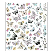Multi-Coloured Stickers-Black Tip Butterflies