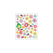 Multi-Coloured Stickers-Spring Flowers