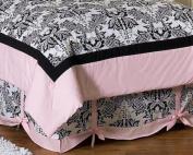 Pink and Black Sophia Queen Kids Childrens Bed Skirt by Sweet Jojo Designs