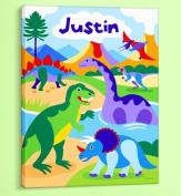 Olive Kids - Dinosaurs Personalised Canvas Art