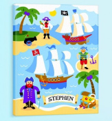 Olive Kids - Pirates Personalised Canvas Art