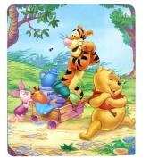 Disney Winnie the Pooh Fleece Blanket Throw 110cm x 150cm