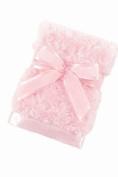 Bearington Baby Collection Plush Pink - small Swirly Snuggle Blanket