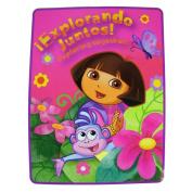 Dora The Explorer Plush Throw - Dora Twin Size Throw Blanket [Toy]