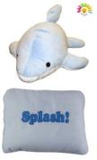 Get Me Out Pillows Soft Plush Stuffed Animal Pillow - Dolphin Splash