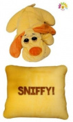Get Me Out Pillows Soft Plush Stuffed Animal Pillow - Sad Dog Sniffy